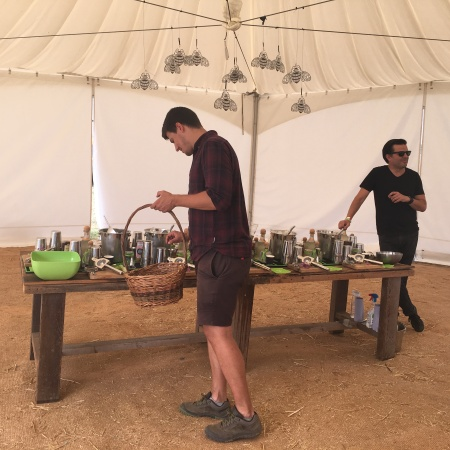 Foraging with Patron at Jimmy's Festival