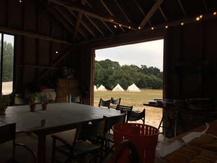 Dining area and camping at Root Camp