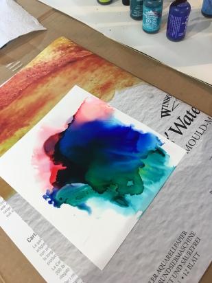 Creating art with Kimberly Godfrey