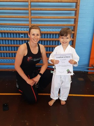 Little Dragons student after their grading