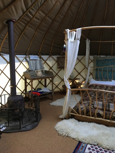 Barn Owl Yurt at Alde Garden Campsite