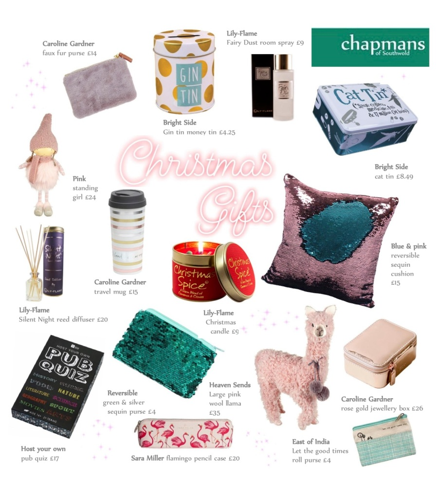 Christmas gifts from Chapmans in Southwold